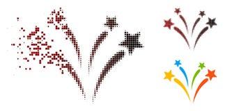 Polvo Dot Halftone Fireworks Icon stock de ilustración