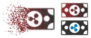 Polvo Dot Halftone Ripple Banknote Icon ilustración del vector