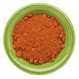 Polvo orgánico de la paprika fotos de archivo
