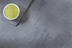 Polvo orgánico de Moringa - moringa oleifera Foto de archivo