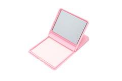 Polvo rosado con el espejo Fotos de archivo