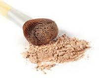 Polvo y cepillo de cara Imagen de archivo