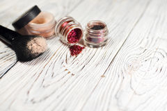 Polvo y pigmentos Fotografía de archivo libre de regalías