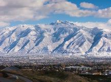 Polvoreda de la nieve Imagen de archivo libre de regalías