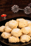 Polvorones with Christmas decoration Stock Image