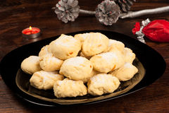 Polvorones with Christmas decoration Royalty Free Stock Image