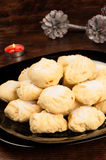 Polvorones with Christmas decoration royalty free stock images