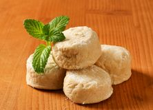 Polvorones - Spanish Shortbread Cookies Stock Photos