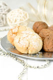 Polvorones, spanish shortbread Royalty Free Stock Photos