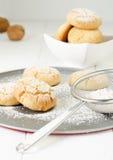 Polvorones, spanish shortbread, Royalty Free Stock Images