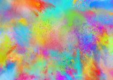 Polvos coloreados para el partido del color del holi de la primavera stock de ilustración