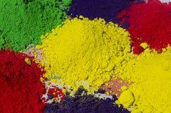 Polvos coloridos de Holi Fotografía de archivo