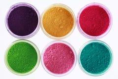 Polvos coloridos de los pigmentos Foto de archivo libre de regalías
