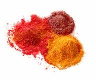 Polvos picantes del color Foto de archivo libre de regalías