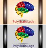 Poly Brain Logo Royalty Free Stock Photography
