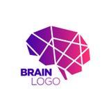 Poly Brain Symbol abstrait Images libres de droits