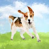 Poly chien Outdoors-04 illustration stock
