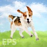 Poly chien Outdoors-04 [converti] illustration de vecteur