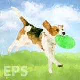 Poly chien Outdoors-07 [converti] illustration de vecteur