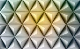 Poly de papier abstrait fait à partir du fond de tétraèdre jaune Photo libre de droits
