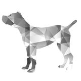 Poly Dog Design Royalty Free Stock Images