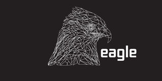 Poly Eagle lågt royaltyfri bild