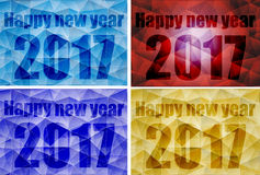 Poly happy new year 2017 design. Can be used by companies Royalty Free Stock Image