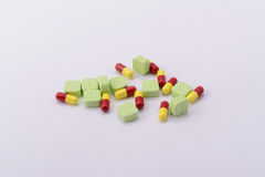 Poly medicine pills for disease. The Medicine for treatment disease Royalty Free Stock Images