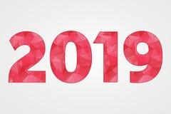 poly symbole du vecteur 2019 Illustration abstraite de triangle de bonne année illustration stock