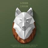 Poly tête de loup illustration de vecteur