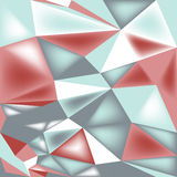 Poly triangle 3d seamless pattern Stock Photos