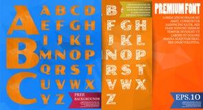 Poly vektorstilsort och polygonal bakgrund tre för alfabet vektor Arkivbilder