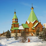 Polyarnye Zori, Russia, a new church Royalty Free Stock Photos