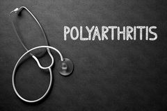 Polyarthritis - tekst na Chalkboard ilustracja 3 d Zdjęcia Stock