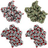 Polycaprolactone molecule Stock Images