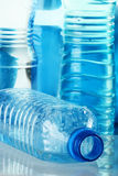 Polycarbonate plastic bottle of mineral water Stock Images