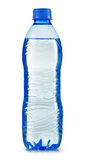 Polycarbonate plastic bottle of mineral water on white Stock Photography