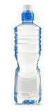 Polycarbonate plastic bottle of mineral water on white Royalty Free Stock Photo