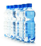 Polycarbonate plastic bottles of mineral Stock Photo