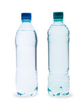 Polycarbonate plastic bottles of mineral water. On white background Stock Photo