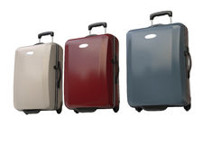 Polycarbonate suitcases Stock Images