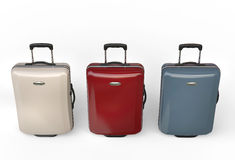 Polycarbonate travel baggage suitcases Royalty Free Stock Photography