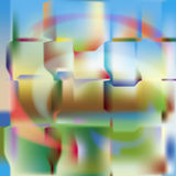 Polychromatic background. Abstraction polychromatic composition (colored background stock illustration