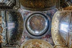 Polychrome купол вызванной католической церкви Стоковые Изображения RF