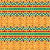 Polychrome abstract Mexican pattern. Geometric design. Colored ethnic mosaic, Mexican tribal ornament. Can be used for textile, background, linen, wrapping stock illustration