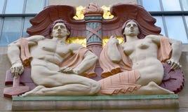 The polychrome limestone Art Deco Stock Photo