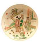 Polychrome plate with figures Royalty Free Stock Photography