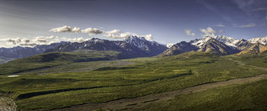 Polychrome Point Panorama, Denali Stock Image