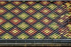 Polychrome roof of the Church of Saint Bruno in Voiron. France Stock Photo