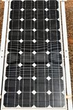 Polycrystalline Solar Panel Green stock images